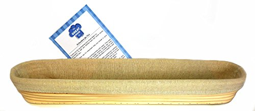 Banneton Proofing Basket Set - Premium 17 Inch Baguette Bread Proofing Brotform, Linen Cloth Liner and Instructions by The Great Bake Co by The Great Bake Co. (Image #7)