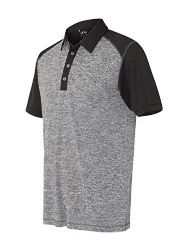adidas Golf Mens Heather Colorblock Polo (A145) -Lead Heath -2XL