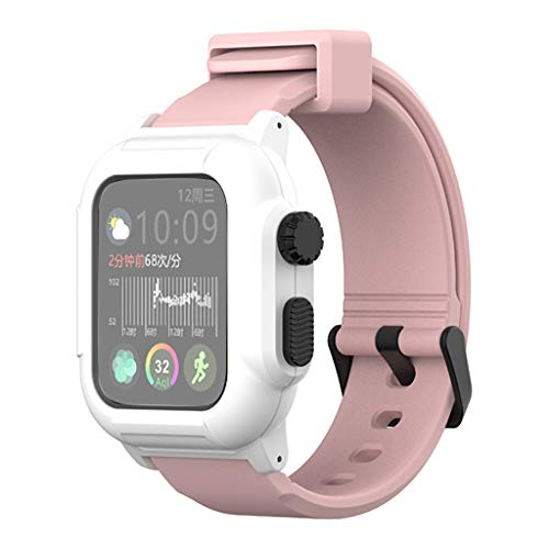 Price comparison product image 44mm Wrist Bracelet + Case,  HoHo Soft Silicone Sport Wristband with Apple Watch Screen Protector for Apple Watch Series 4