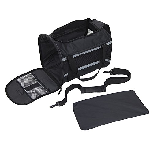 SportPet Designs Travel Soft-Sided Pet Carrier, Waterproof Travel Pet Bed, Portable Pet Bed with Zipper, with Expandable Option by SportPet Designs (Image #6)