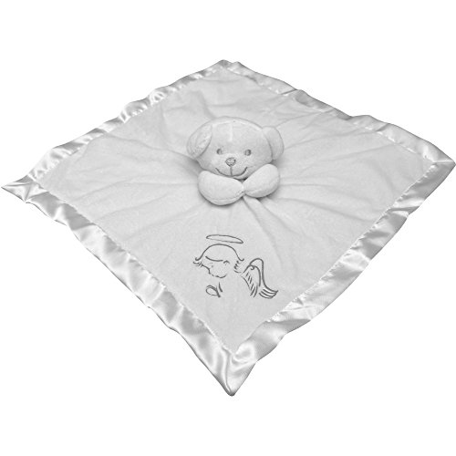 Baby Angel White Super Soft Comforter Blanket with 3D Teddy Bear (White with Silver)