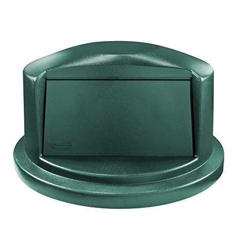 Rubbermaid Commercial Heavy-Duty BRUTE Dome Swing Top Door Lid for 32 Gallon Waste/Utility Containers, Plastic, Green (1829397)