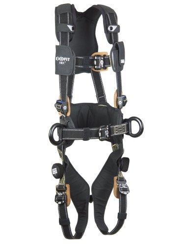 DBI-SALA,ExoFit NEX 1113317 Full Body Nomex/Kevlar Arc Flash Harness, PVC Coated Alum. Back/Side D-Rings, Belt W/ Pad, Comfort Pad, Locking QC Leg Straps, Large, Black by Capital Safety
