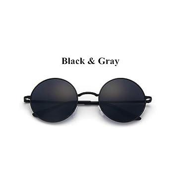 LLLM Gafas de sol Clásico polarizado Gafas de Sol Redondas ...