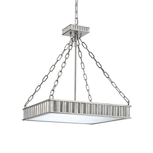 Middlebury 5-Light Pendant - Polished Nickel Finish with Clear/Frosted Glass Shade ()