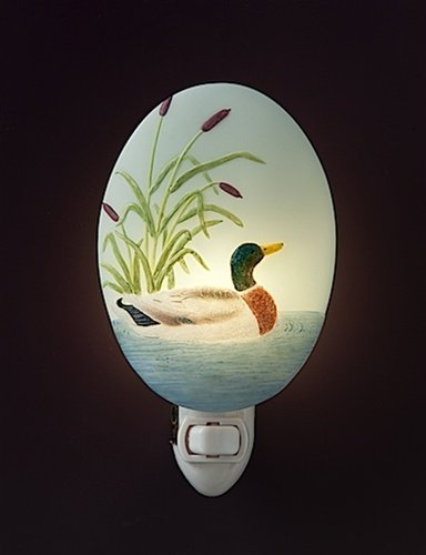 Duck Lake Cattails Night Light Ibis & Orchid Flowers of Light Collection