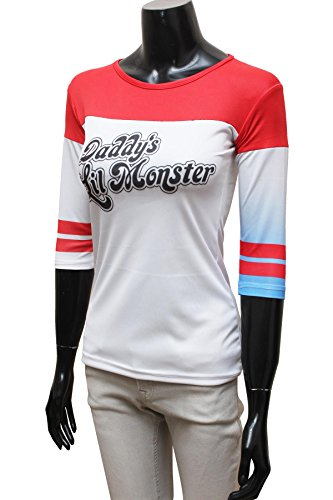 Miracle(Tm) Harley Quinn Costume T-shirt - Suicide Squad