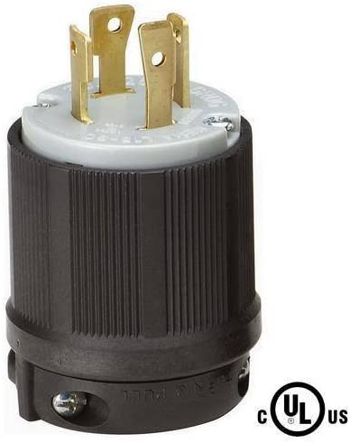 L15-30 Plug Rated for 30A NEMA L15-30P Locking Plug 250V  UL