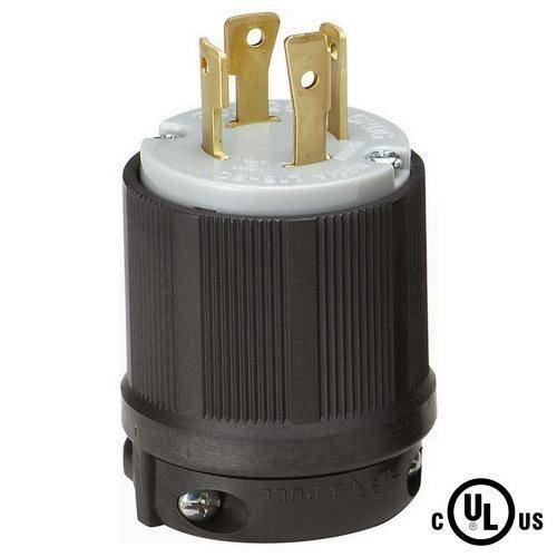 L15-30 Plug, L15-30P Locking Plug, Rated for 30A, 250V AC, cUL Listed (1)