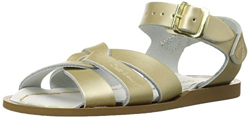 Kids Dress Sandals - Salt Water Sandals by Hoy Shoe Original Sandal (Toddler/Little Kid/Big Kid/Women's), Gold, 4 M US Big Kid