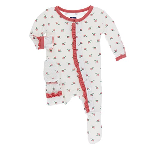 Kickee Pants Print Classic Layette Ruffle Footie