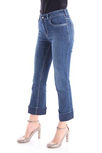 Sul Blu Risvolto Jeans Con Fondo Denim Donna Maxi C18nwxapq