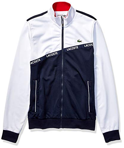 Lacoste Mens Sport Long Sleeve Lacoste Word Tape Tricot Jacket