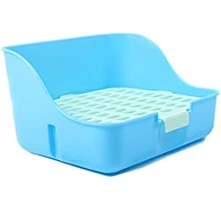 M-Aimee Square Potty Trainer Corner Litter Bedding Box Pet Pan for Small Animal/rabbit/guinea Pig/galesaur/ferret(random Color)