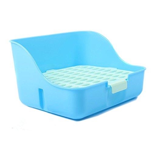 (M-Aimee Square Potty Trainer Corner Litter Bedding Box Pet Pan for Small Animal/rabbit/guinea Pig/galesaur/ferret(random Color))