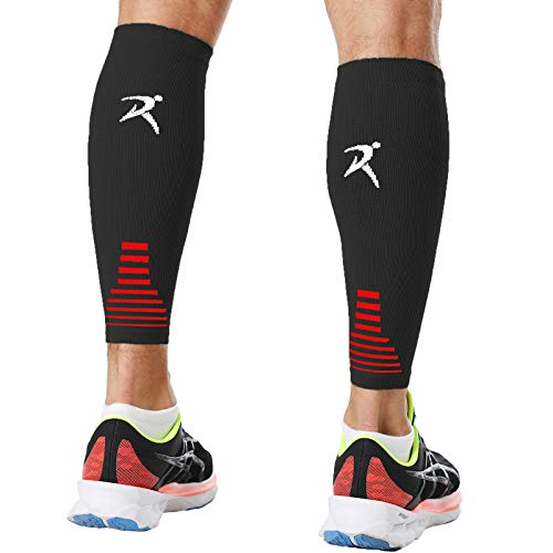 Calf Compression Sleeves Men Women Shin Splints Running (Pair Gray) (M)