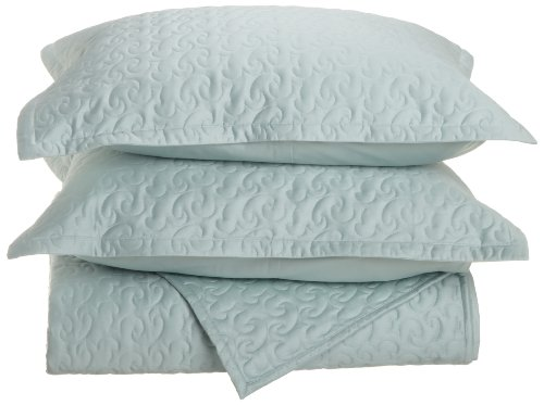 Tuscany Fine Italian Linens Egyptian Cotton Quilted Cover...