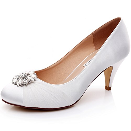 LUXVEER Lace Wedding Shoes - Heels 2 inch