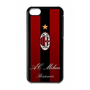 iPhone 5C Custom Cell Phone Case AC Milan FC Logo Case Cover 7WFF34185