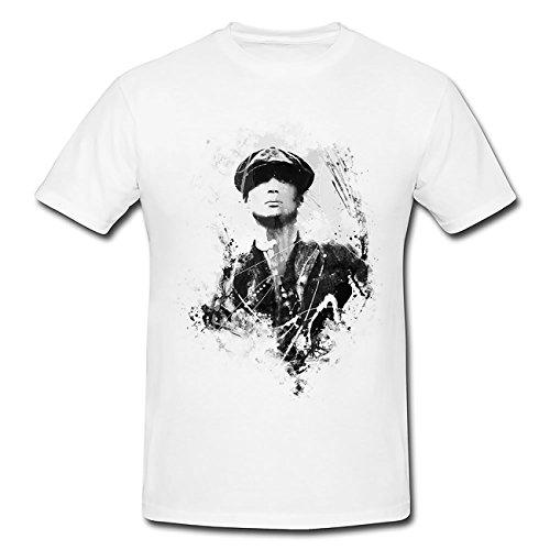 Peaky Blinders Thomas Shelby Art T-Shirt Herren, weiß mit Aufdruck