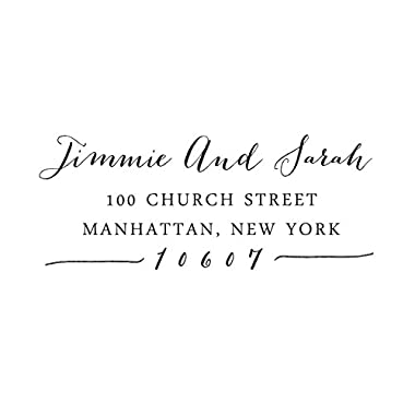 Custom Save The Date Wedding Invitation Rubber Stamp Personalized Calligraphy Return Address RSVP Self Inking Stamper