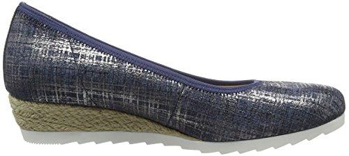 Gabor Ladies Comfort Chiuso Ballerine, Beige Blu (jeans Juta 66)