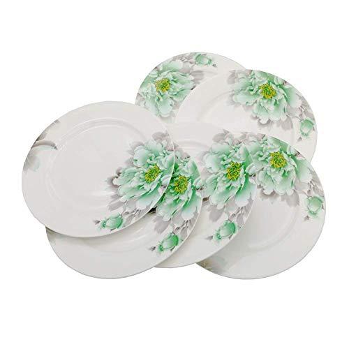 - FINECASA White Bone China 8 inch Fruits/Cake/Dessert Platter Chinese Style Tableware Set of 6