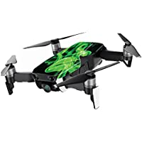 MightySkins Skin for DJI Mavic Air Drone - Green Flames | Min Coverage Protective, Durable, and Unique Vinyl Decal wrap cover | Easy To Apply, Remove, and Change Styles | Made in the USA