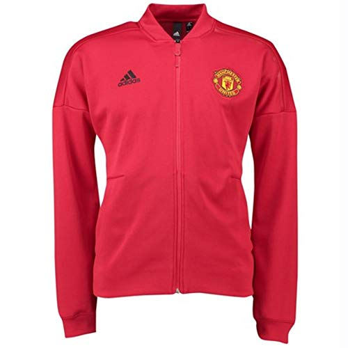 adidas 2018-2019 Man Utd Zone Anthem Jacket (Red)