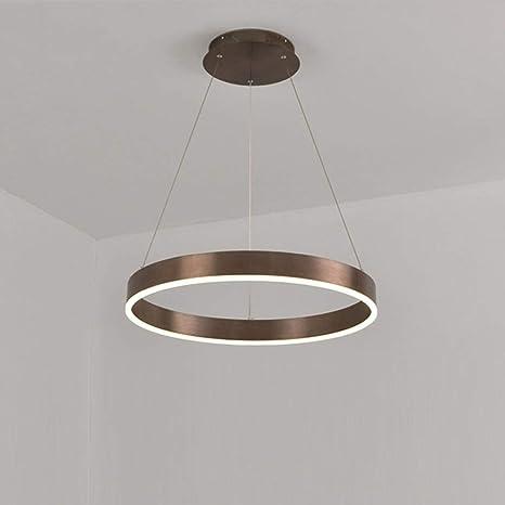 AXWT Lámpara LED moderna Mesa de comedor LED 3 anillos LED ...