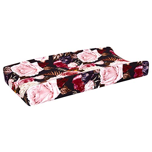 Posh Peanut Baby Changing Pad Cover Stretchy Bamboo Viscose, for Standard 16' by 32' - Zoey Floral