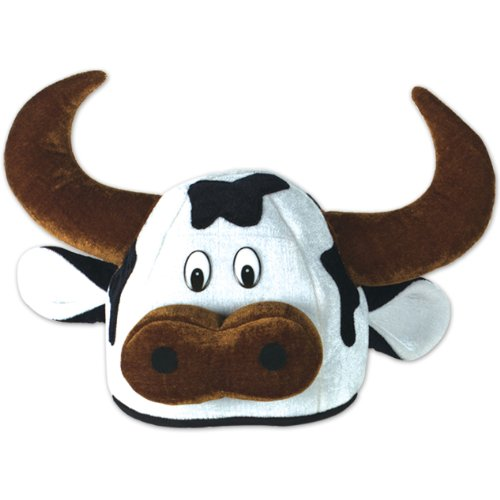 Cow Costumes Accessories (Beistle 60791 Plush Cow Head Hat)