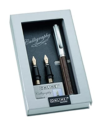 Paradise Pen Company Calligraphy Fountain Pen Set, Vision Nature African Maroon (36920)