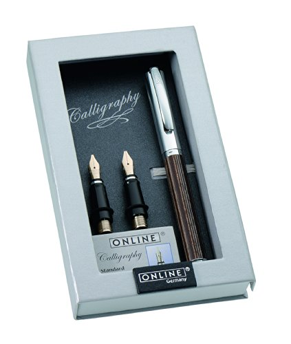Paradise Pen Company Calligraphy Fountain Pen Set, Vision Nature African Maroon (36920) by Paradise Pen Company