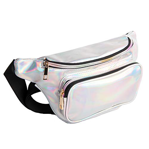 IuulFex Fanny Pack for Women Holographic Fanny Pack