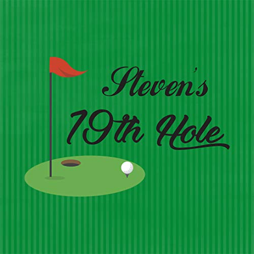 Personalized Custom Text Golf 19th Hole Sports Aluminum Metal Sign, Green 12