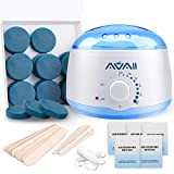 Wax Warmer Kit, AVAII Hair Removal Waxing Kit with 18 Hard Wax Target for Bikini Brazilian Full Body Face Facial Eyebrows Legs Armpit, Painless At Home Wax Kit for Women and Men