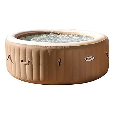 Intex 28426 Pure Spa Bubble Therapy, 196 x 71 cm 4 Posti, Sabbia, Con Pompa, Riscaldatore, Sistema Purificazione Acqua, Beige Classic