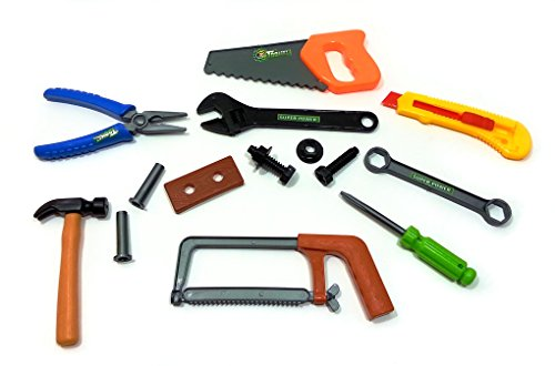 [Learning Fun - Handyman Kids' Toy Tool Set with Accessories for Pretend Playtime Perfect Christmas Gifts for] (Hammer And Nail Halloween Costumes)