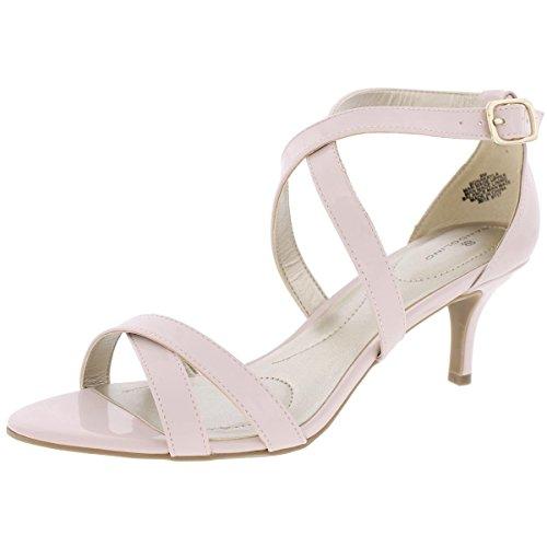 Bandolino Women's Nakayla Heeled Sandal, Dusty Pink, 10 M (Pink Dress Sandals)