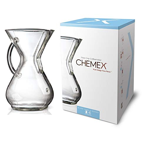 Chemex Glass Handle, Pour-over Coffeemaker, 6-Cup – Exclusive Packaging