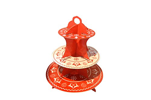 Swirly Twirly Party Cupcake Stand-Biodegradable, Very Cute & Attractive Color - Christmas -