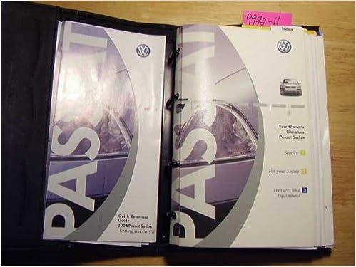 Parts & Accessories 04 2004 VW Passat Sedan owners manual ...