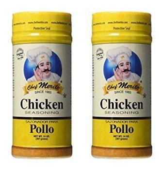 Chef Merito Chicken Seasoning, 14 Ounce (Pack of 2) by Chef Merito