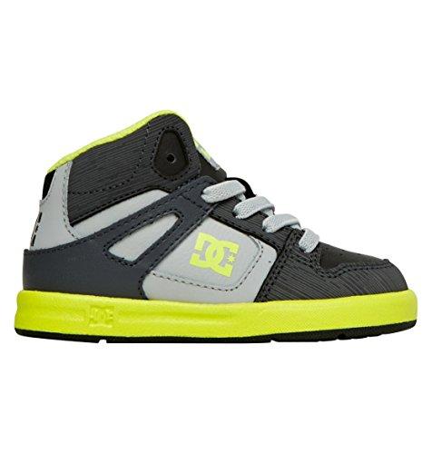 DC Shoes Baby-Boys Shoes Rebound Ul - High-Top Shoes - Boys - US 10 - Black Black/Yellow US 10 / UK 9 / EU 27