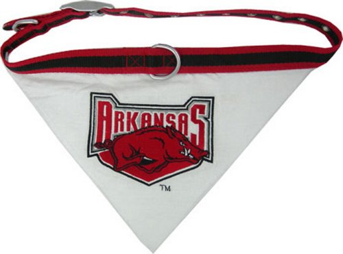 Collegiate Pet Bandana, Large, University Of Arkansas Razorbacks