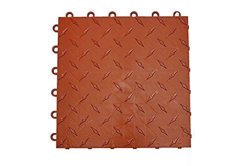 Speedway Garage Tile 789453TC-50 Diamond Garage Floor 6 LOCK Diamond Tile 50 Pack, Terra Cotta