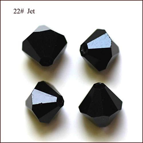 Swarovski Bicone 5301 8mm Jet - Calvas Wholesale Grade AAA 5301 5328 3mm 4mm 5mm 6mm 8mm 10mm 30 Color Crystal Bicone Beads 100pcs/Bag - (Color: Jet, Item Diameter: 5mm)