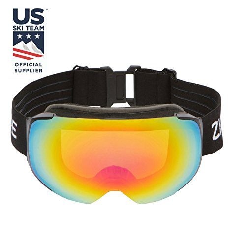 0cf7d4655ba4 Zipline Podium Ski Snowboard   Snowmobile Goggles - No Fog -  Interchangeable Magnetic Lenses - US Freestyle Ski Team Official Supplier -  10 Lens Options ...