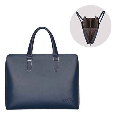 Expandable Briefcase Luggage Us (Business Briefcase Bag, Expandable Leather Briefcase for Men, 17 Inch Laptop Shoulder Messenger Bag)